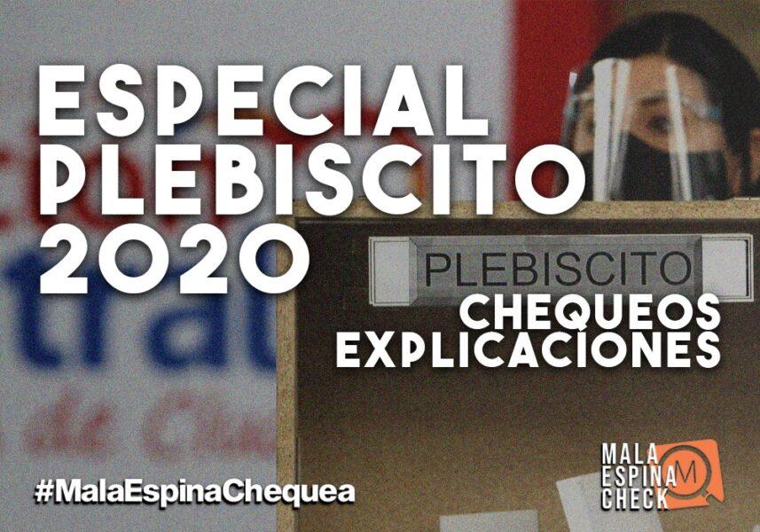 Especial Plebiscito 2020: Chequeos y explicaciones