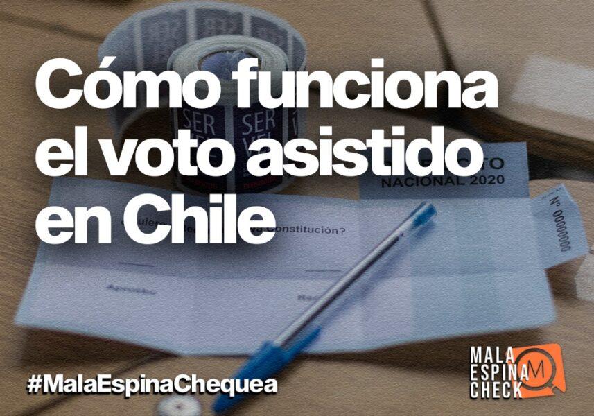 Cómo funciona el voto asistido en Chile