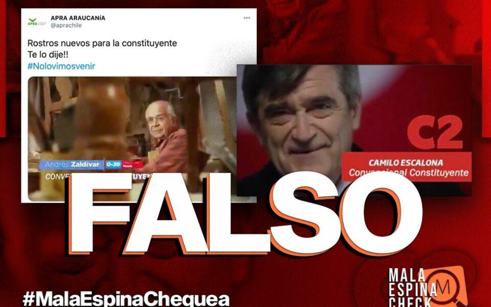 Es falso que Zaldívar y Escalona se presentaron como candidatos a constituyentes