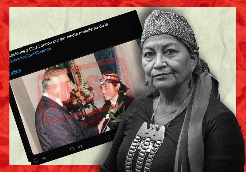 Elisa Loncon dice no ser la mujer que aparece con Pinochet en una foto viral