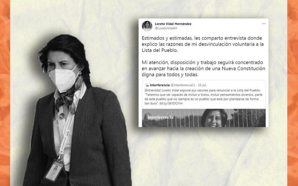 Constituyente de La Lista del Pueblo Loreto Vidal no renunció a la Convención