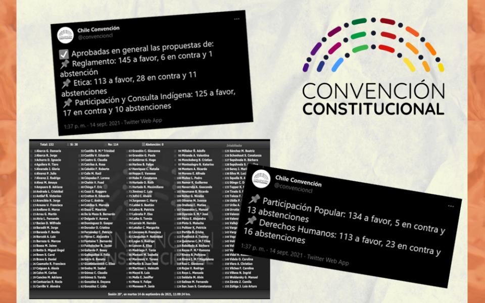 La Convención aprobó en general los cuatro reglamentos