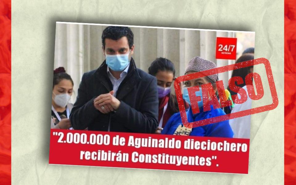 Es falso que los constituyentes recibirán dos millones de pesos de aguinaldo dieciochero