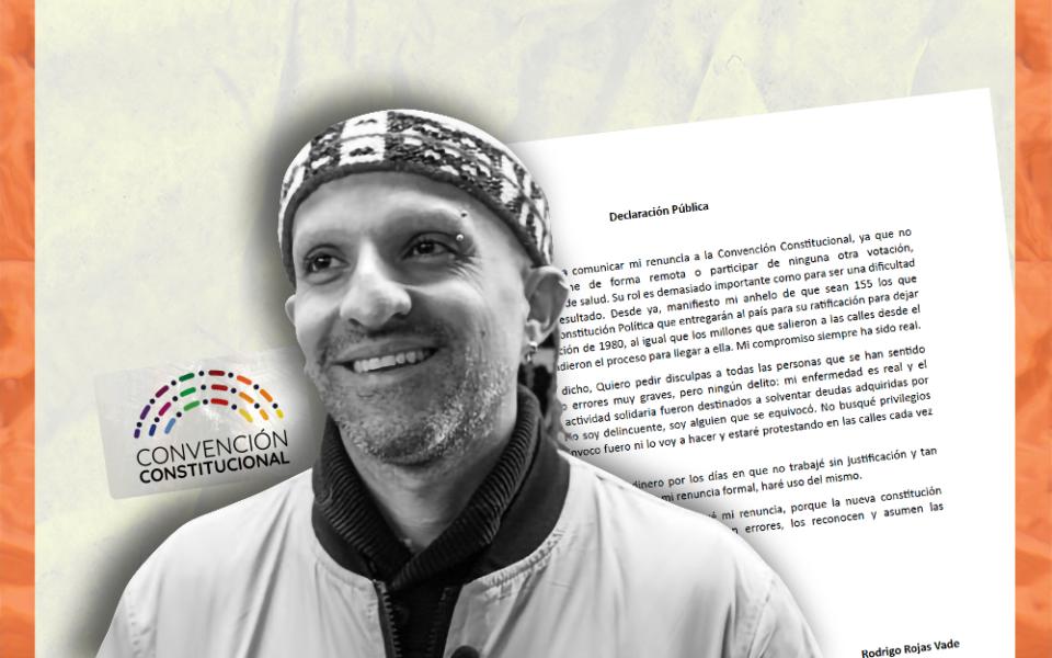Rodrigo Rojas Vade dejará de asistir a la Convención Constitucional