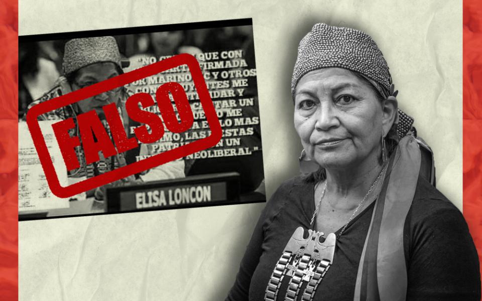 Es falsa la supuesta frase de Elisa Loncon en contra del himno nacional